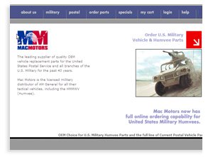 MacMotors Humvees - Sarasota Business to Business Automotive Website Designers