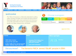 Sarasota YMCA Community Website Design