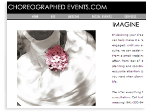 Choreographed Events - Sarasota Wedding Websites